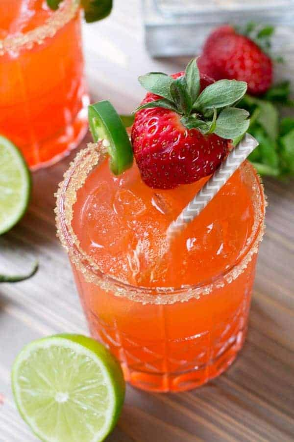 Strawberry Jalapeño Margarita