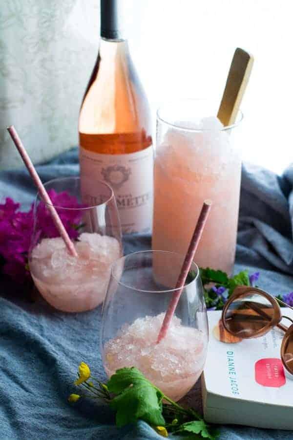 Lavender Peach Wine Slushies