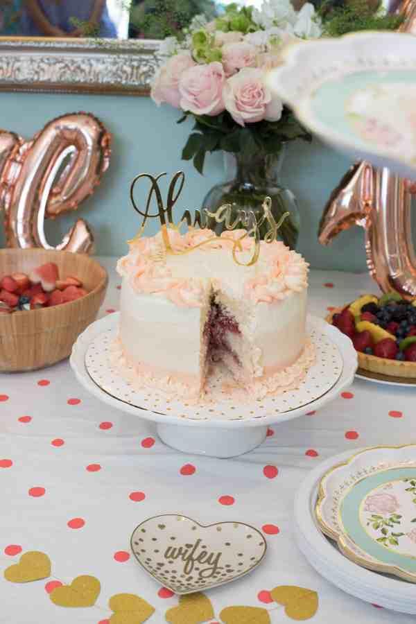 Strawberry Rosé Ombre Cake