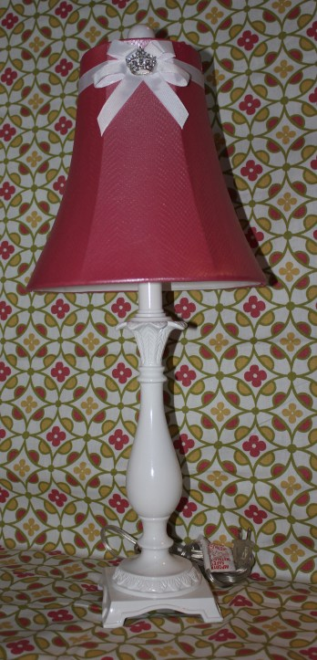 """25""""H Rosey Pink Lamp $199.00 Bringing light, cheer, and a touch of sparkle to your child's room."""