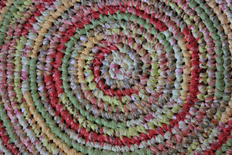 """39"""" Round Braided Rug $189.00 Beautiful, handmade one of a kind rug. Wow! How cute will this be in your child's room? Cotton, machine washable."""