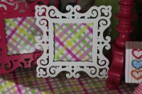"""White or Pink Frame $19. 50 each 4x4 """""""