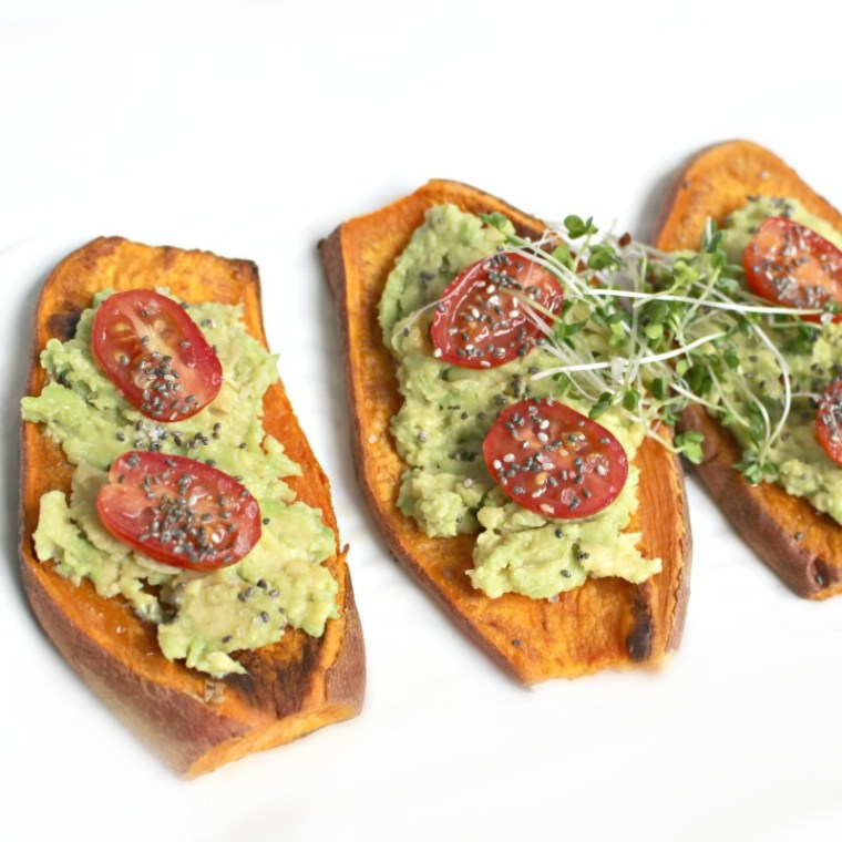 Sweet Potato Avocado Toast |HungryBlondeNYC.com