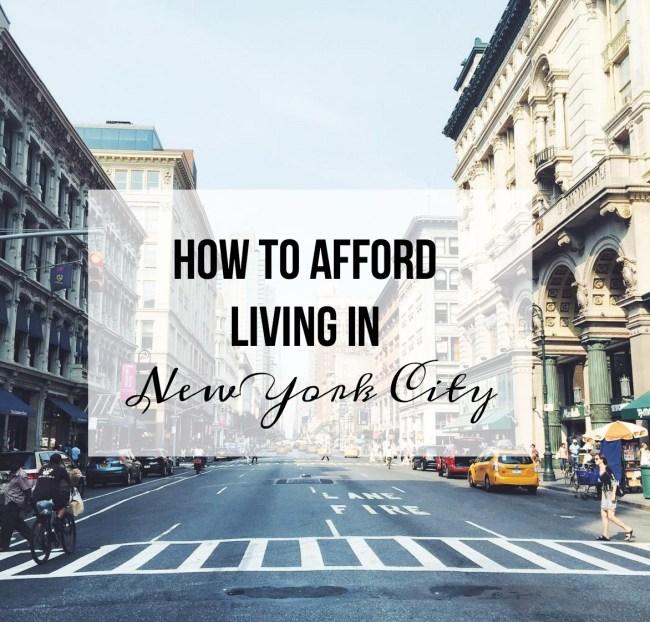 afford living nyc