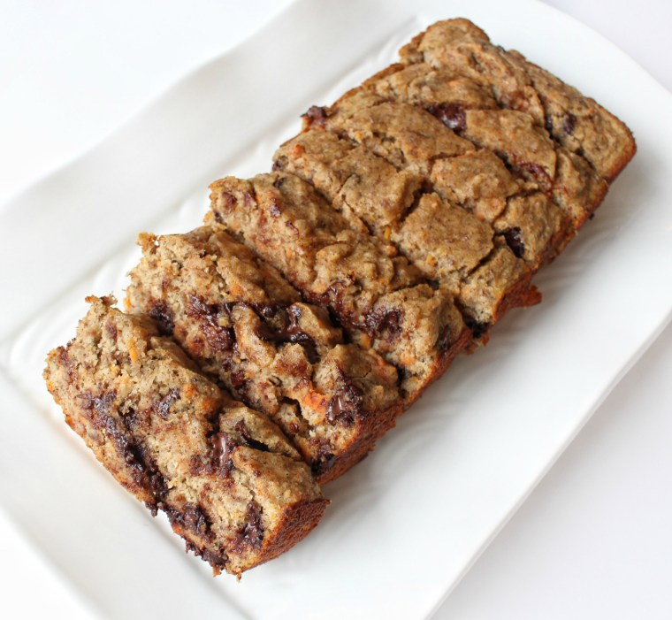 Paleo Chocolate Chip Sweet Potato Banana Bread