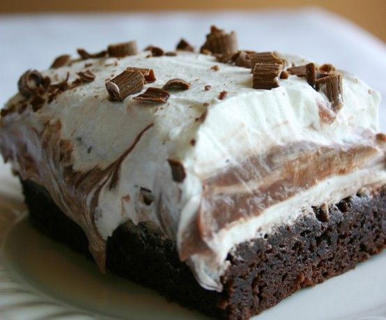 Brownie Refrigerator Cake ~ Delicious Dessert To Help Your Sweet Tooth!