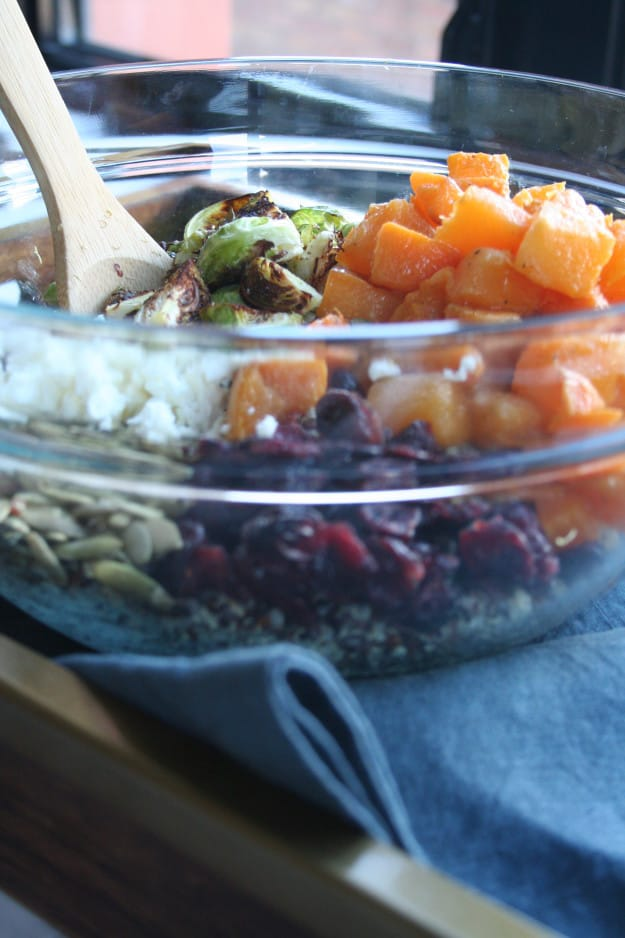 roasted brussels sprouts in this butternut squash and quinoa salad