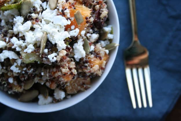 dig in to this butternut squash and quinoa salad