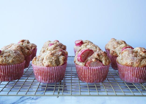 Rhubarb Ginger Muffins   hungrybynature.com