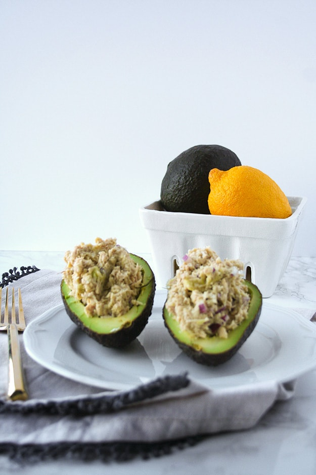 5 Ingredient Avocado Tuna Salad   Hungry by Nature