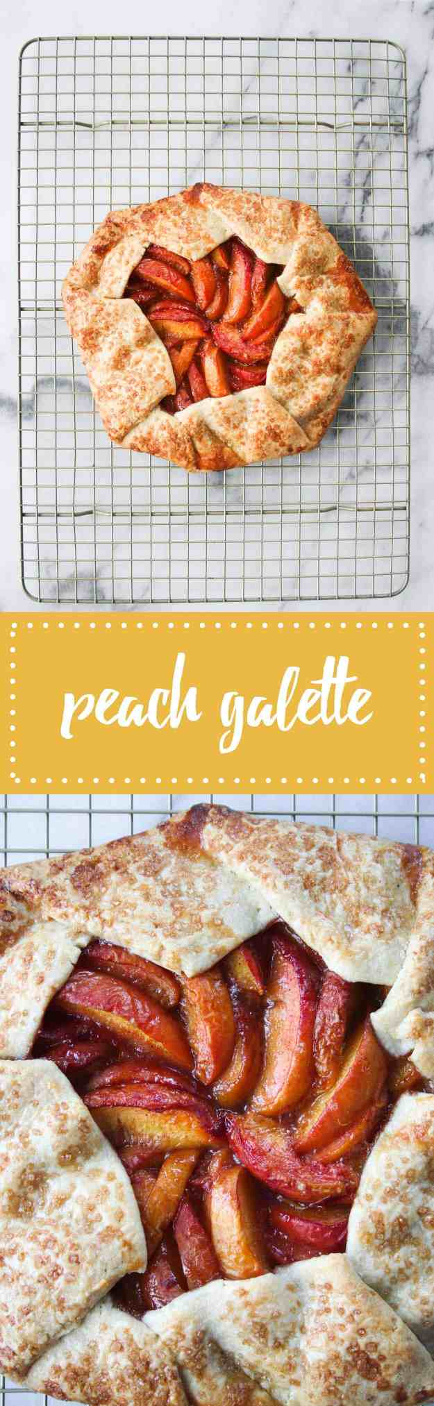 A simple and stunning summer dessert - peach galette! | hungrybynature.com