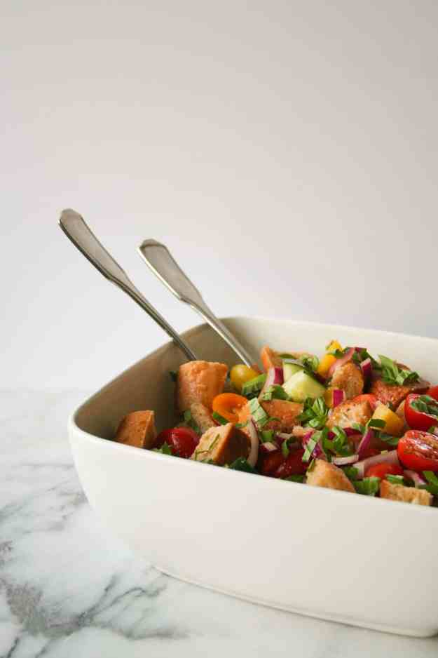 Panzanella - a simple 'bread salad' hailing from Italy - is the perfect summer salad. | Hungry by Nature