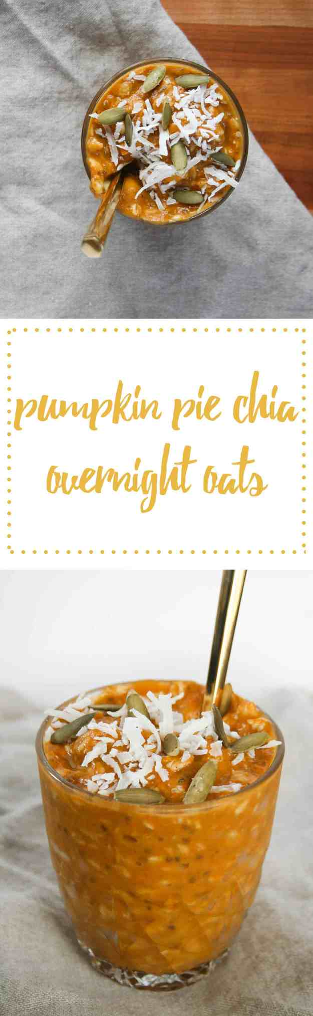 Pumpkin Pie Overnight Oats are the perfect way to spice up your breakfast routine! | hungrybynature.com