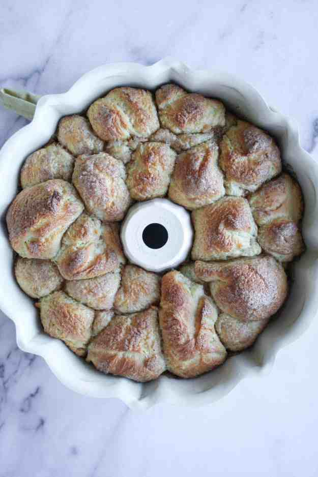 Orange-Glazed Cinnamon Monkey Bread is the perfect sweet treat to nibble on when opening presents on Christmas morning. What's Christmas without sweets?   hungrybynature.com