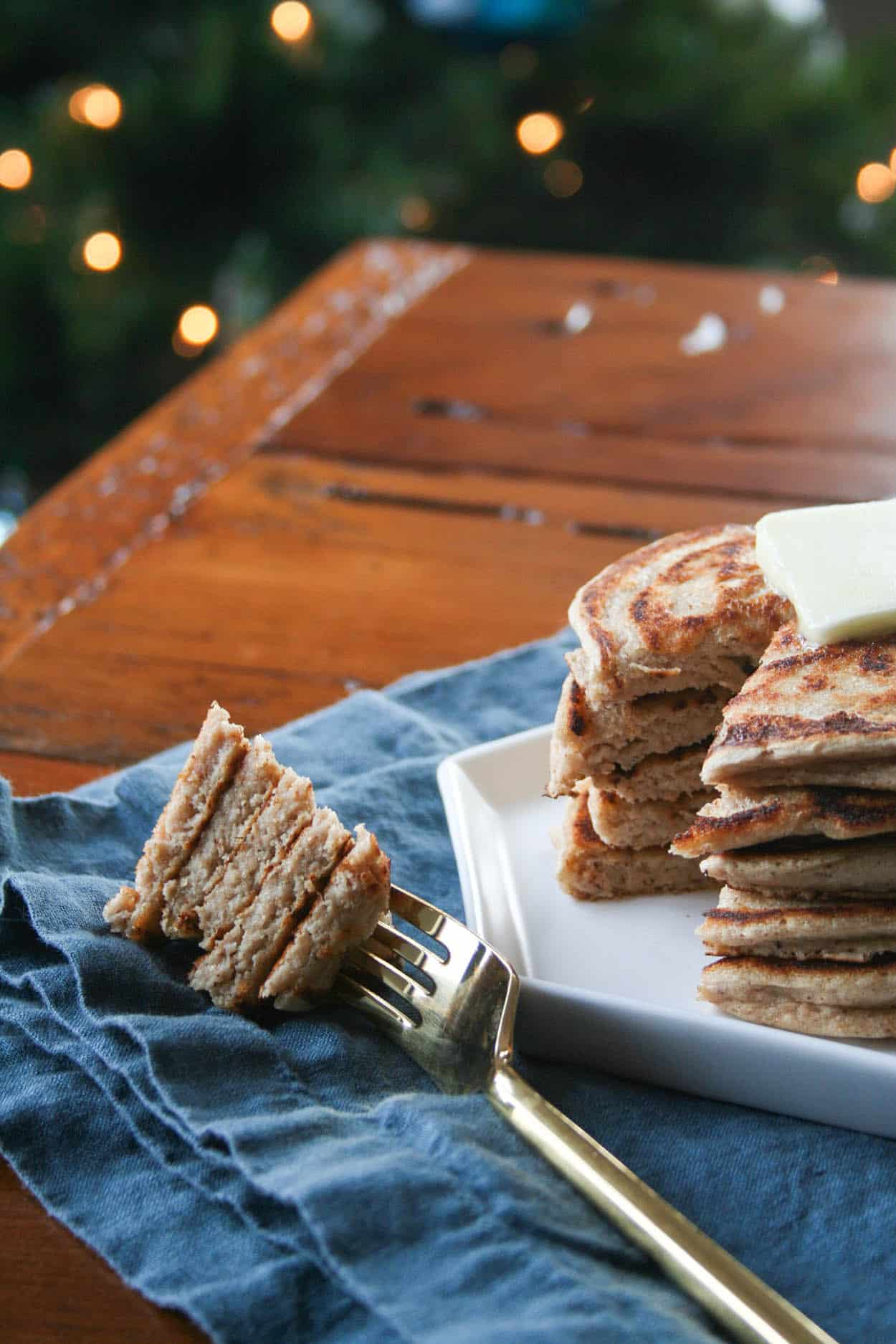 Protein Packed Gingerbread Pancakes - Hungry by Nature