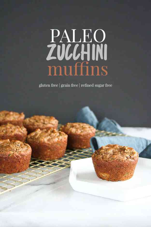 Paleo Zucchini Muffins | gluten free, grain free, refined sugar free, Whole30, easy, healthy, banana, almond butter, baking | hungrybynature.com