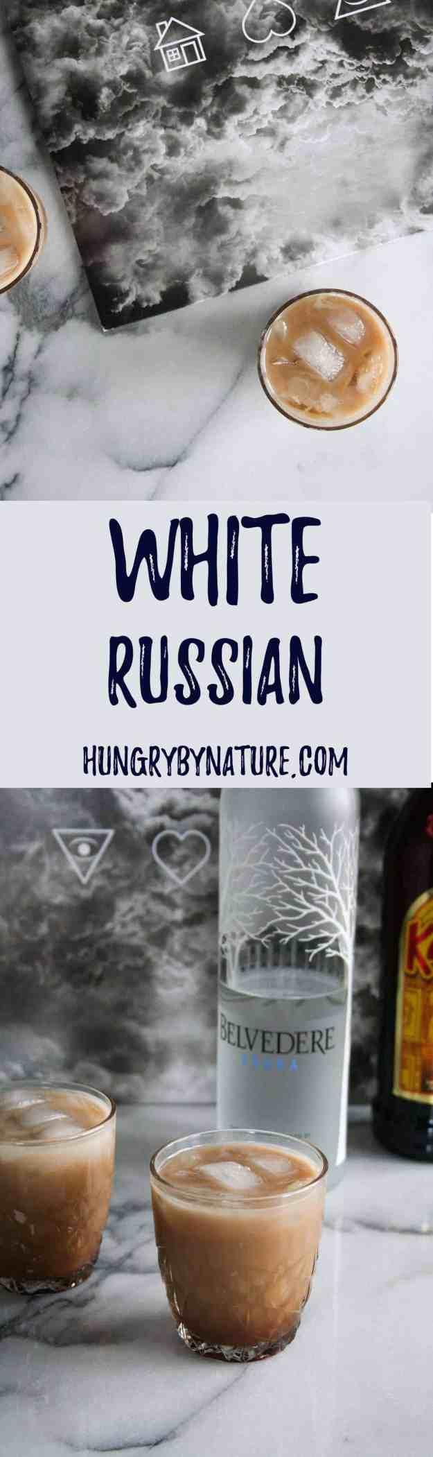 White Russian | drink, recipe, cocktail, skinny, light, dessert | hungrybynature.com