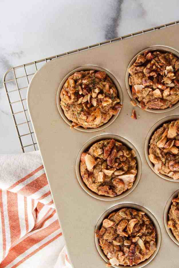 Tigernut Flour Zucchini Muffins | recipes, healthy, AIP, paleo, gluten free, bananas, gemini, breakfast, baking | hungrybynature.com