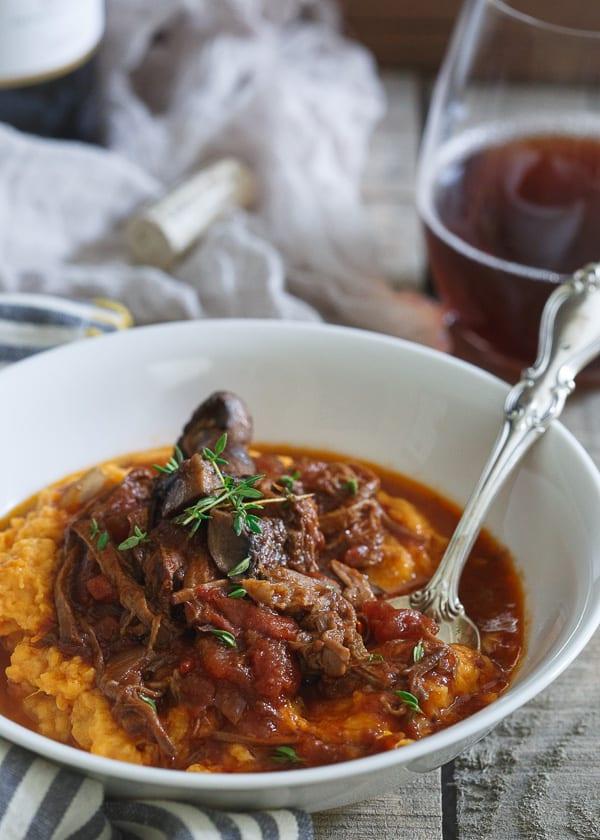 paleo slow cooker short rib ragu in a bowl