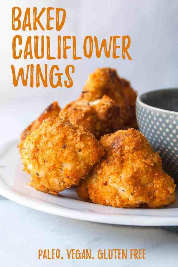 Baked Cauliflower Wings (Vegan!) | #ad #crunchbetter #vegan #baked #easy #crispy #glutenfree #paleo | hungrybynature,com
