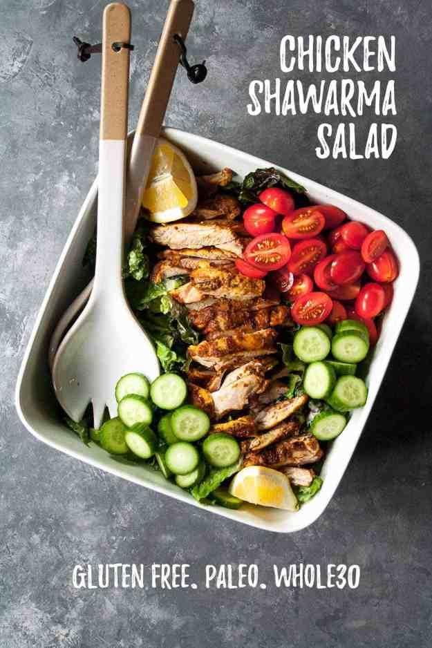 Chicken Shawarma Salad | #whole30 #paleo #easy #healthy #fresh | hungrybynature.com