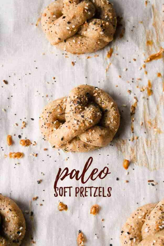Paleo Soft Pretzels | #paleo #glutenfree #grainfree #dairyfree #vegan #vegancheese #simplemills #recipe | hungrybynature.com