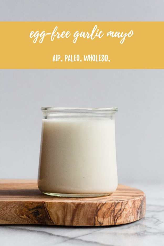 a glass jar filled will mayo