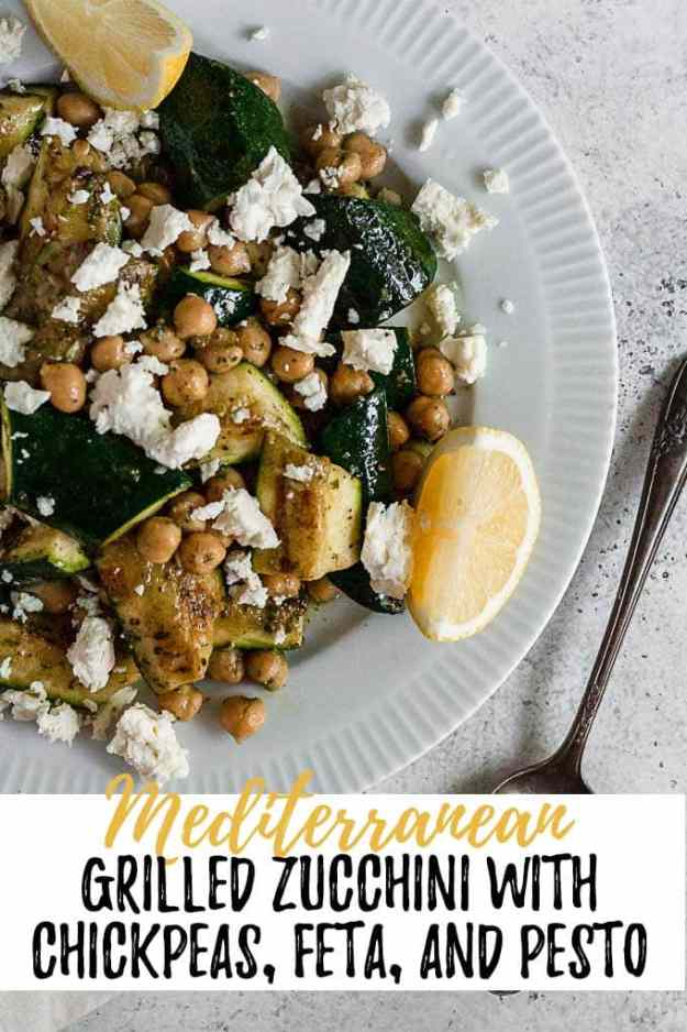 mediterranean grilled zucchini with text overlay