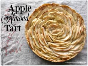 This Apple Almond Tart is as beautiful as it is sweet, toasty, and nutty!   HungryEnoughToEatSix.com
