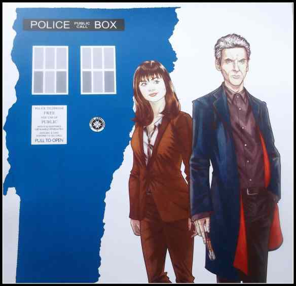 Vermont Comic Con-Tardis with the 12th Doctor and Clara, by Blair D. Shedd, OneGemini.com