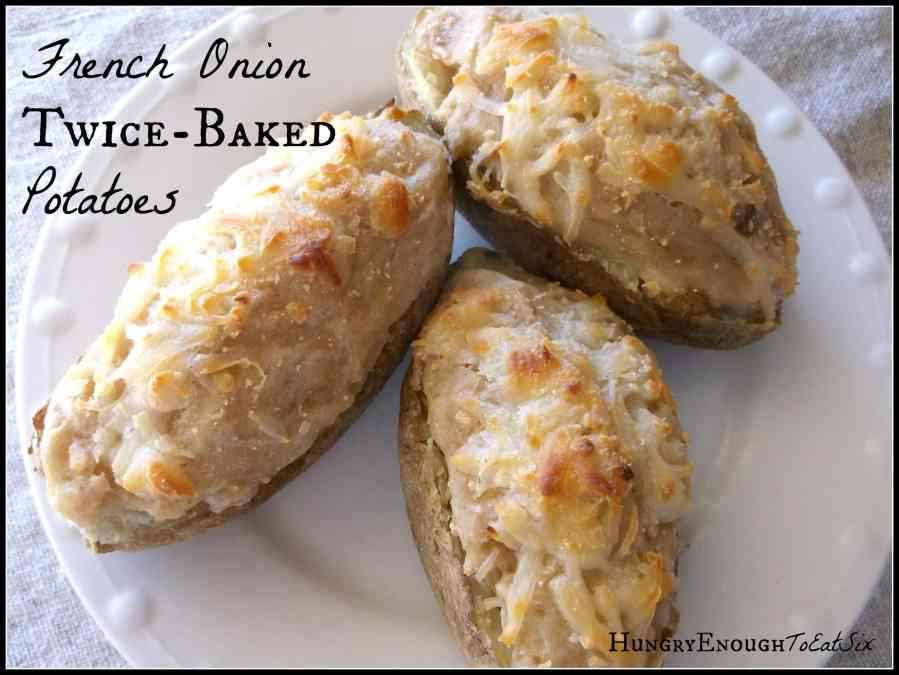 French Onion Twice-Baked Potatoes