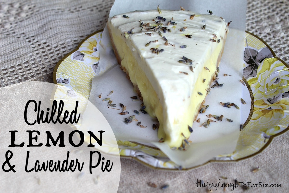 This is a bright, floral dessert with sweet and tangy lemon filling and lavender whipped cream on top.