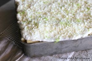 The super-sweet, soft white chocolate flavor with the tart and sweet lime is a winner for sure. And because they're chilled together in this no-bake dessert, it is cool and refreshing from start to finish!