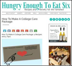 How To Make a College Care Package * HungryEnoughToEatSix.com