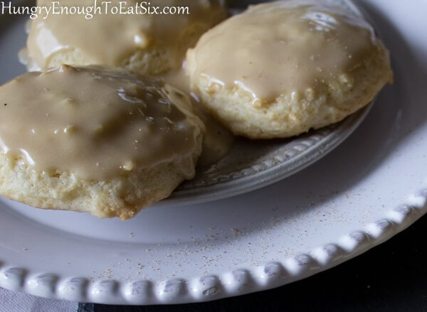 Aunt Clara's Sour Cream Sugar Cookies with Maple Tops