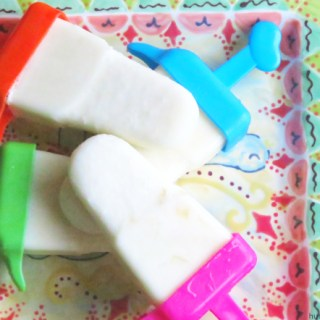 Coconut and Pineapple Popcicles