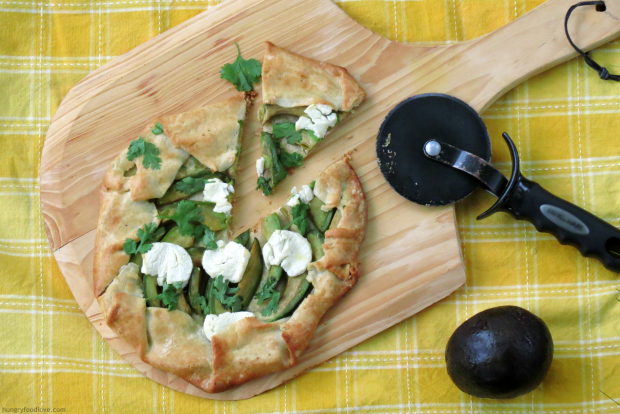 Avocado Goat Cheese Crostata #iloveavocados