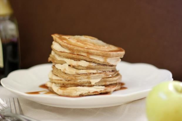 Apple Pie Pancakes with Caramel Mascarpone
