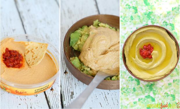 hummus, guacamole, avocado, easy