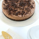 Cocoa Pebbles Crunch Triple Chocolate No-Bake Cheesecake