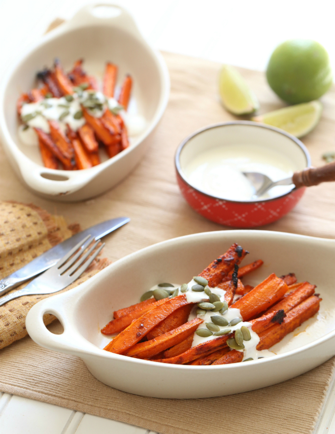 Taco Spiced Carrots by Hungry Food Love