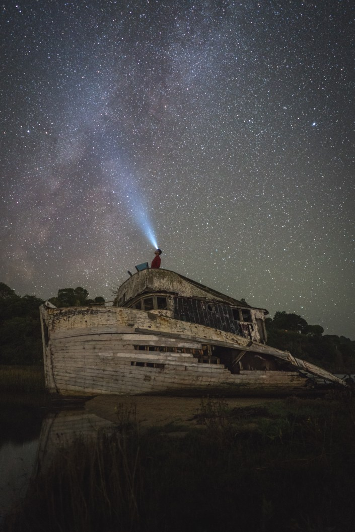 Travel and Adventure Photo - Milkyway Over Point Reyes Shipwreck