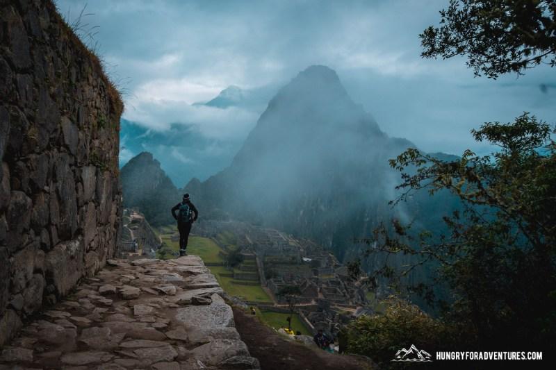 First Look of Machu Picchu Before Sunrise