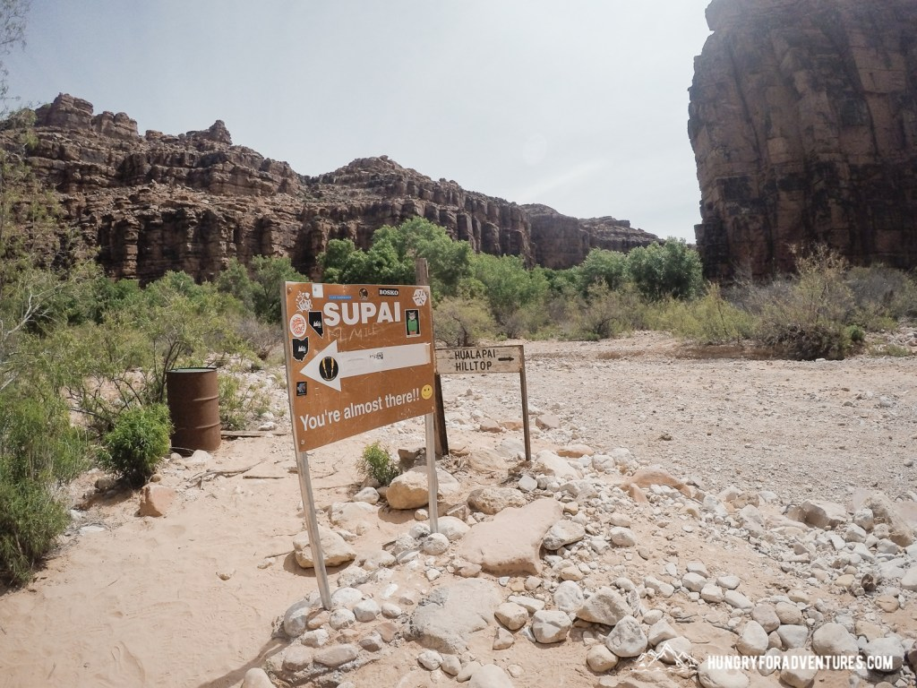 Havasu Falls Hike Almost There Sign