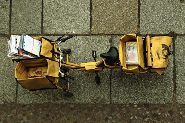 Fahrrad des Briefzustellers