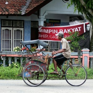indonesien java becak rikscha