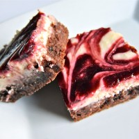 Black Cherry Swirl Cheesecake Brownies