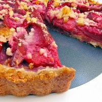 Almond Crusted Plum Tart