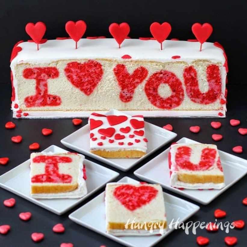 Resultado de imagen para valentine cake ideas with surprise