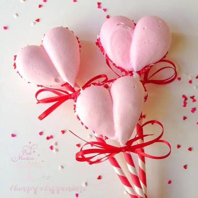 Meringue Heart Cookie Pops Hungry Happenings